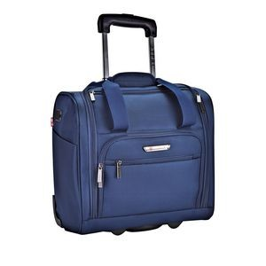 "RAFAEL COLLECTION 15"" UNDERSEATER ROLLING CARRY-ON w/USB CHARGING PORT"
