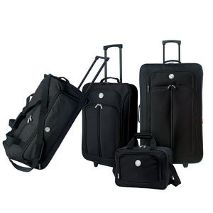 "4pc Value Luggage Set w/26"" Expandable Vertical & 24"" Rolling Duffel"